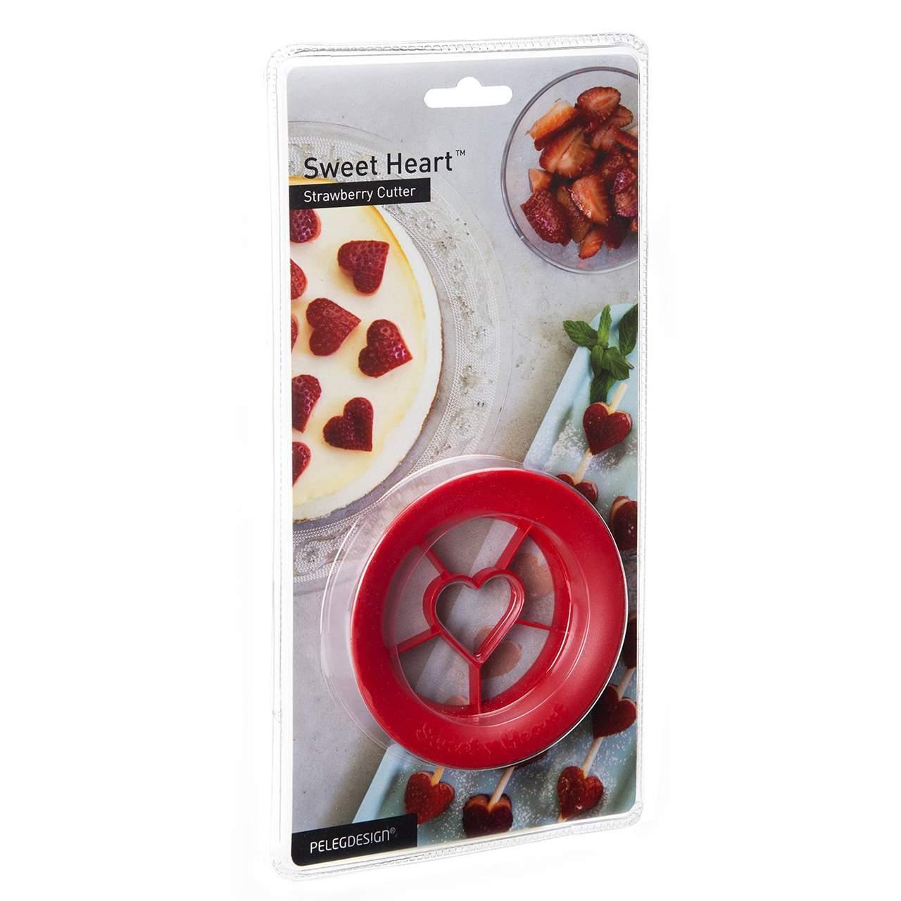 Strawberry Cutter Sweet Heart by Peleg Design | The Design Gift Shop