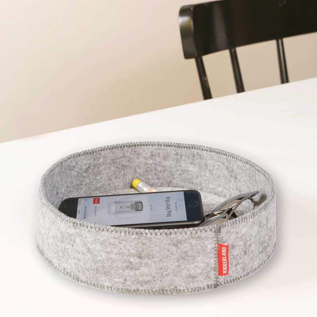 Kikkerland Catch-All Tray Grey   the design gift shop