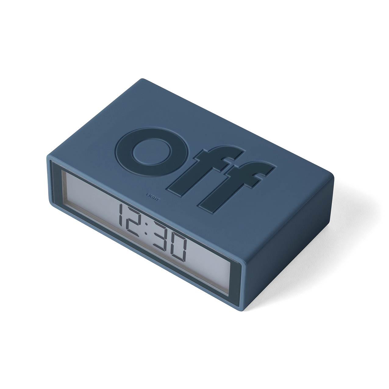 LEXON Flip+ LCD alarm clock LR150BF9 duck blue   the design gift shop