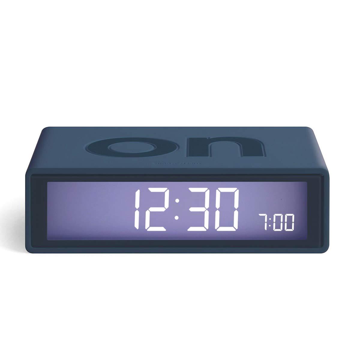 LEXON Flip+ LCD alarm clock LR150BF9 dark blue | the design gift shop