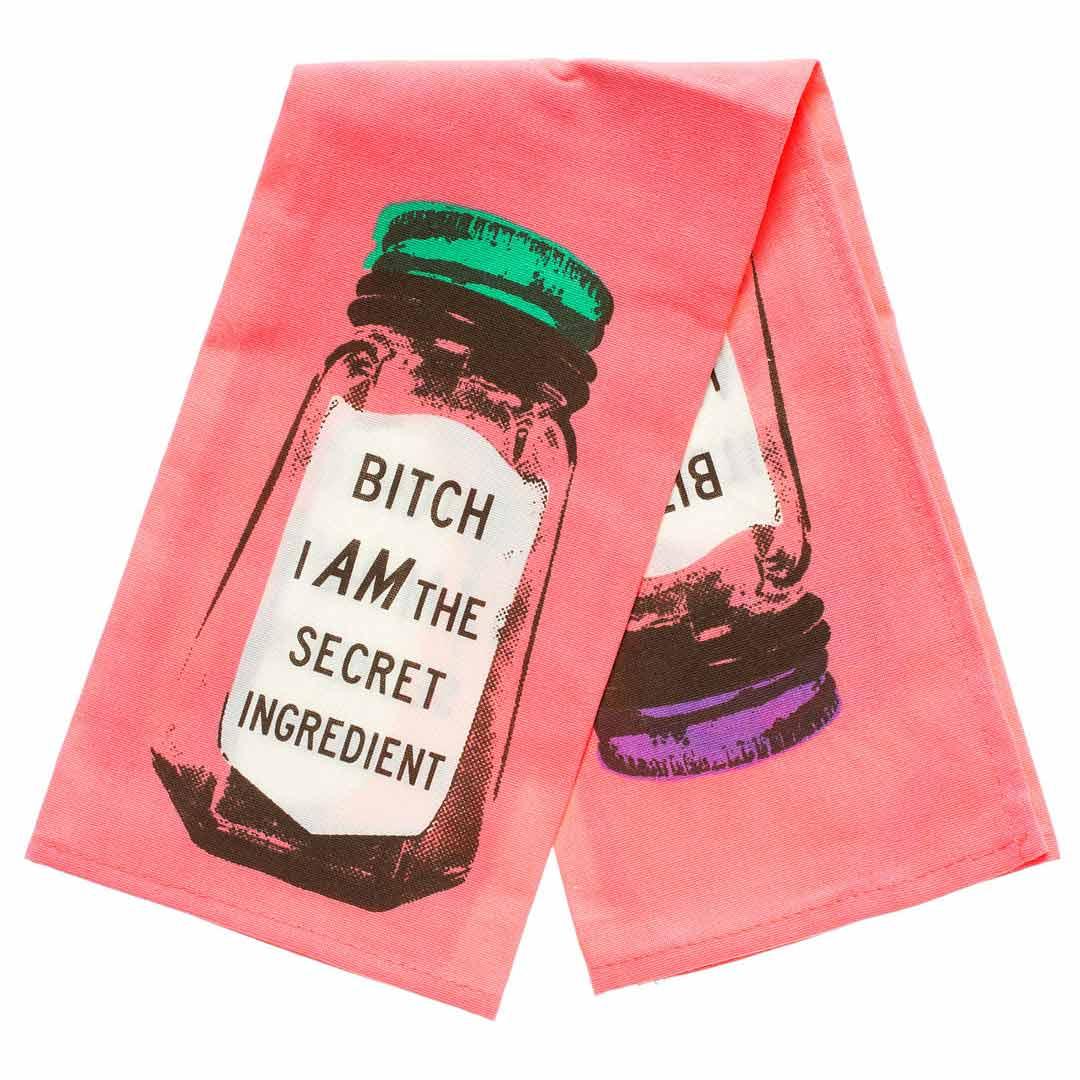 'Bitch I am the secret ingredient' Dish Towel by Blue Q  | the design gift shop