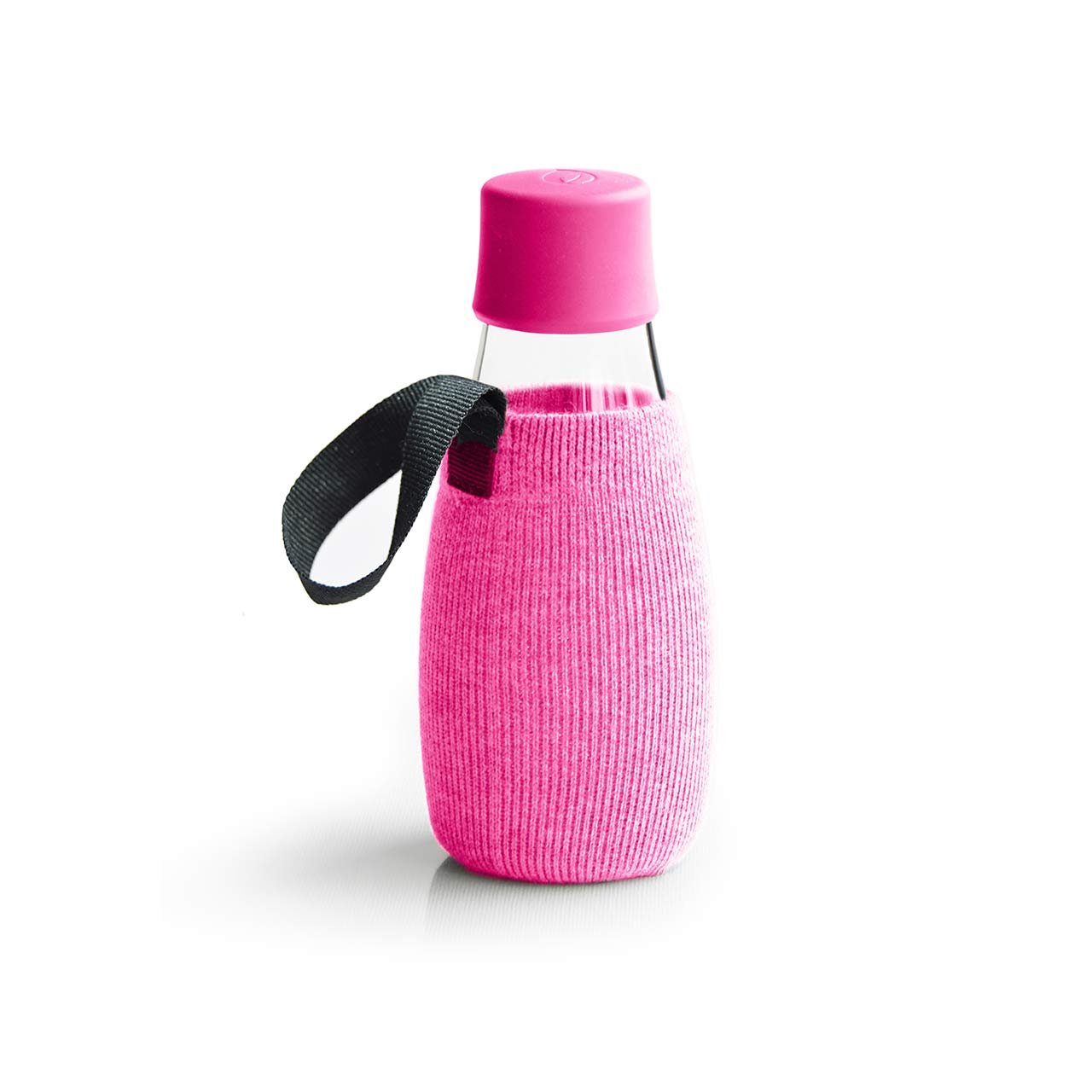 Retap Glass Water Bottle 03 | Lid & Sleeve Pink | The Design Gift Shop