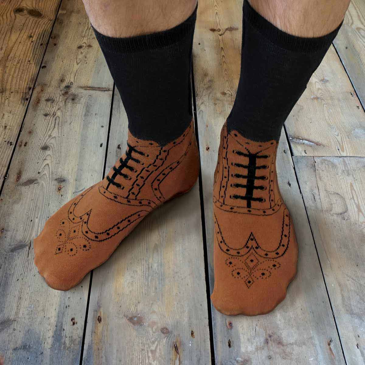 Quirky Brogues Socks by Ginger Fox | The Design Gift Shop
