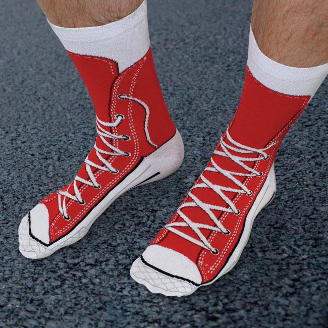 Quirky Sneaker Socks by Ginger Fox | The Design Gift Shop