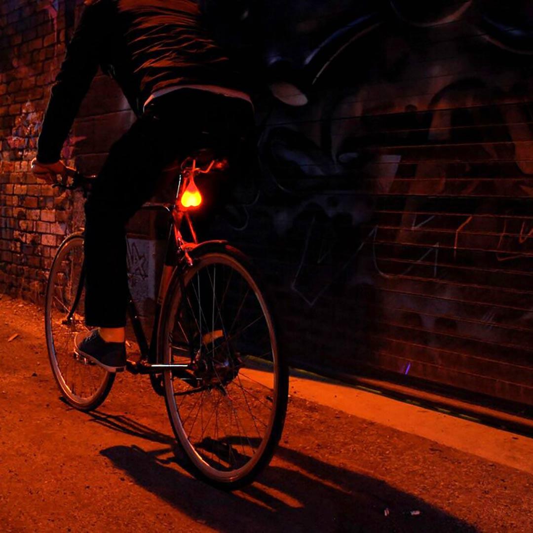 Rear bike light, saddle rail mount | The Design Gift Shop