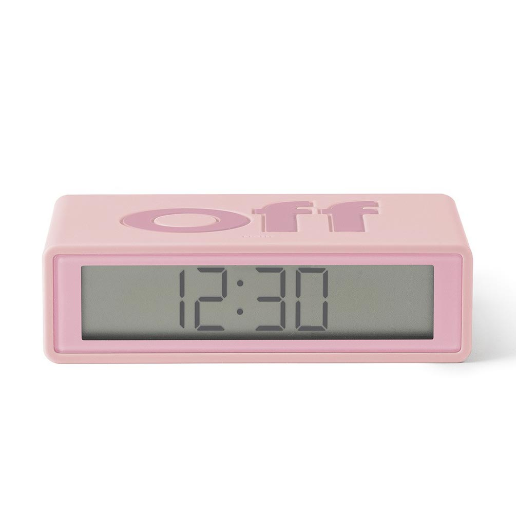 LEXON Flip LCD alarm clock LR130P8 pink | the design gift shop