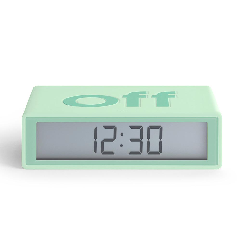 LEXON Flip LCD alarm clock LR130VC8 mint | The Design Gift Shop