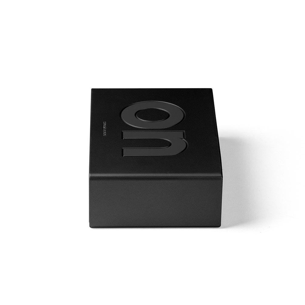 LEXON Flip LCD alarm clock LR130MN metallic black   The Design Gift Shop