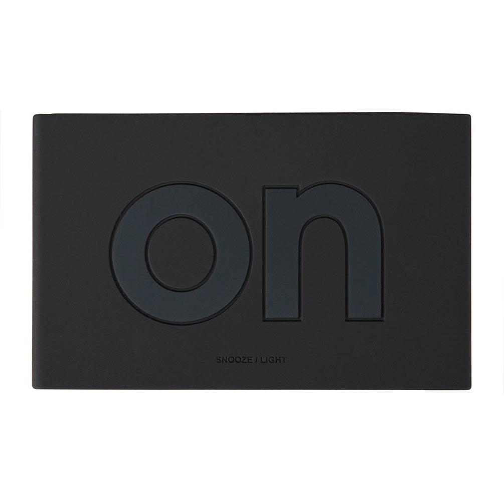 LEXON Flip LCD alarm clock LR130MN metallic black | The Design Gift Shop