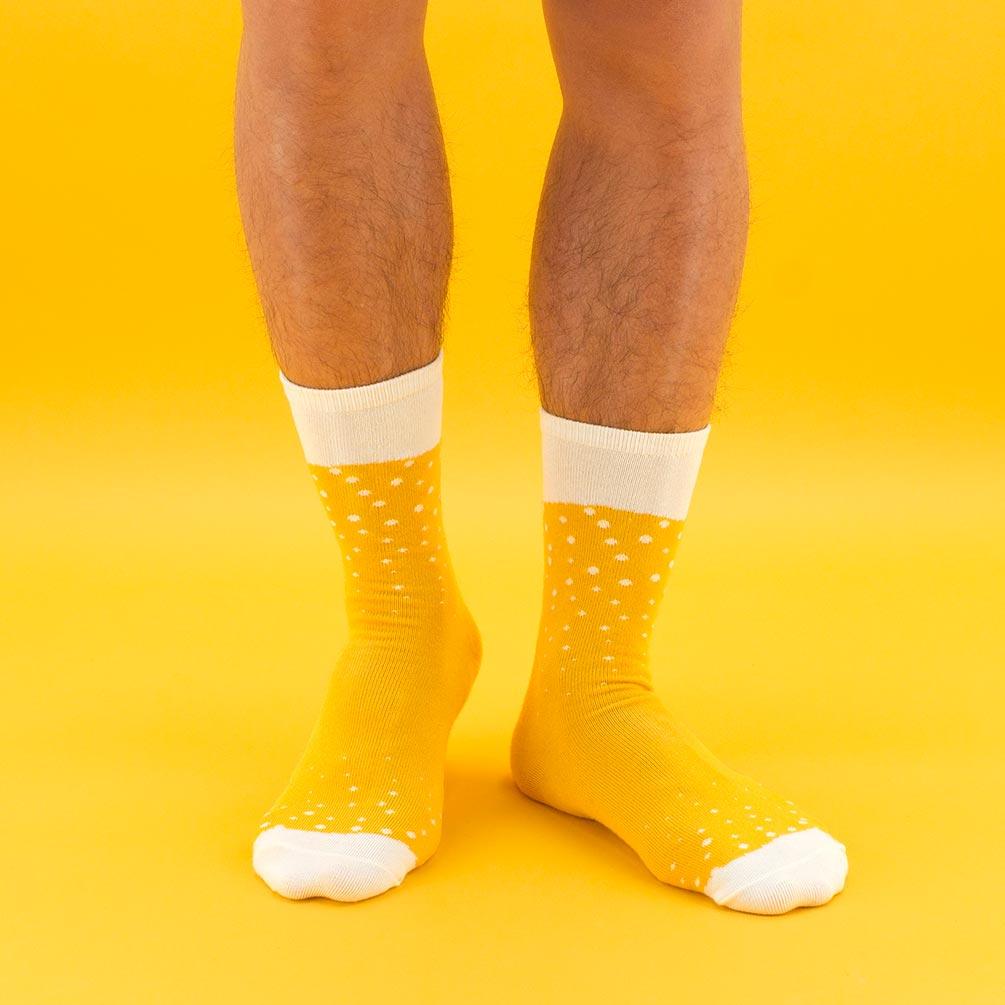 Luckies Men's Beer Socks 'Lager' | The Design Gift Shop