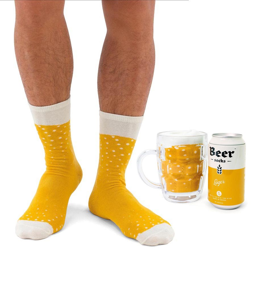 Luckies Men's Beer Socks 'Lager' | The Design Gift Shop
