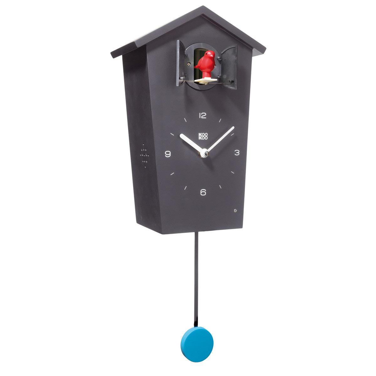 KooKoo BirdHouse cuckoo clock - black | The Design Gift Shop