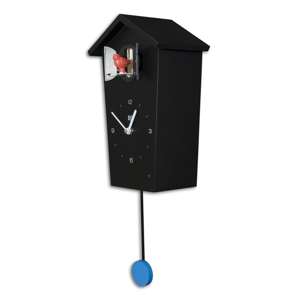 KooKoo BirdHouse cuckoo clock - black | The Design Gift Shop