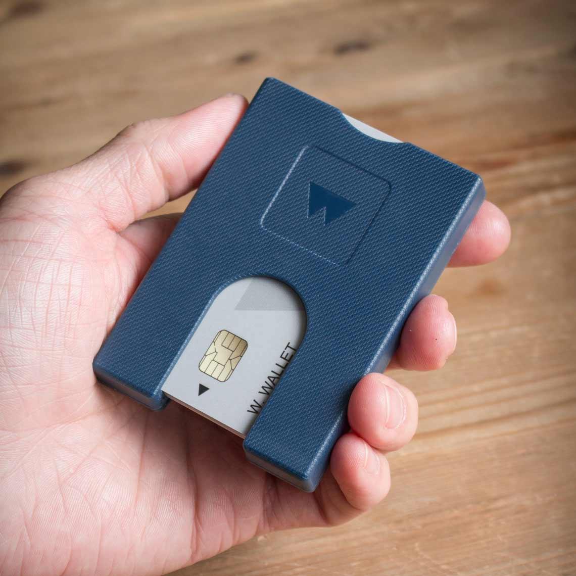 Walter Wallet Credit Card Holder True Blue | The Design Gift Shop