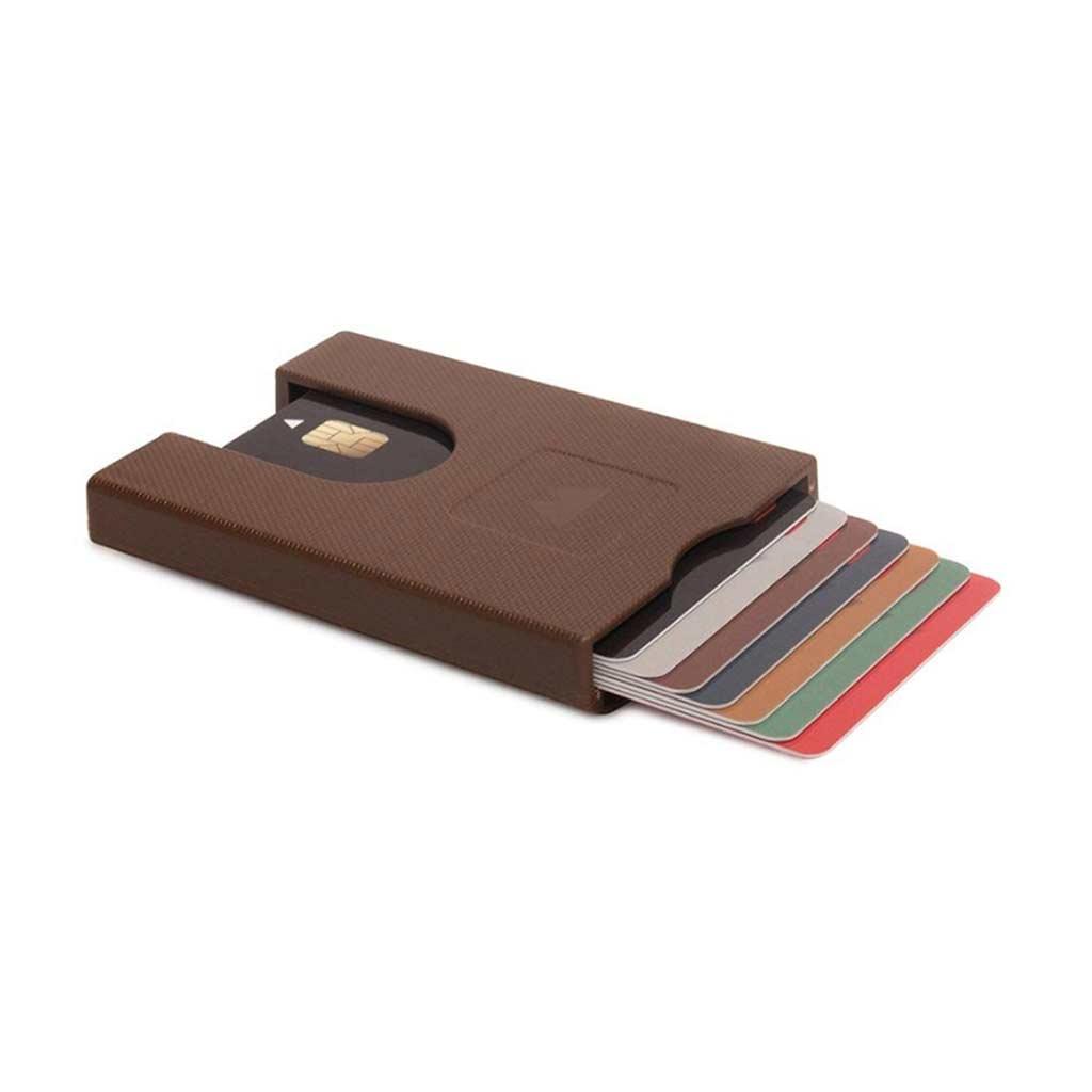 Walter Wallet Credit Card Holder Paper Brown | The Design Gift Shop