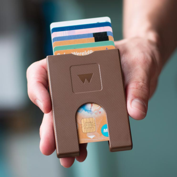 Walter Wallet Credit Card Holder Paper Brown | The Design Gift Shop