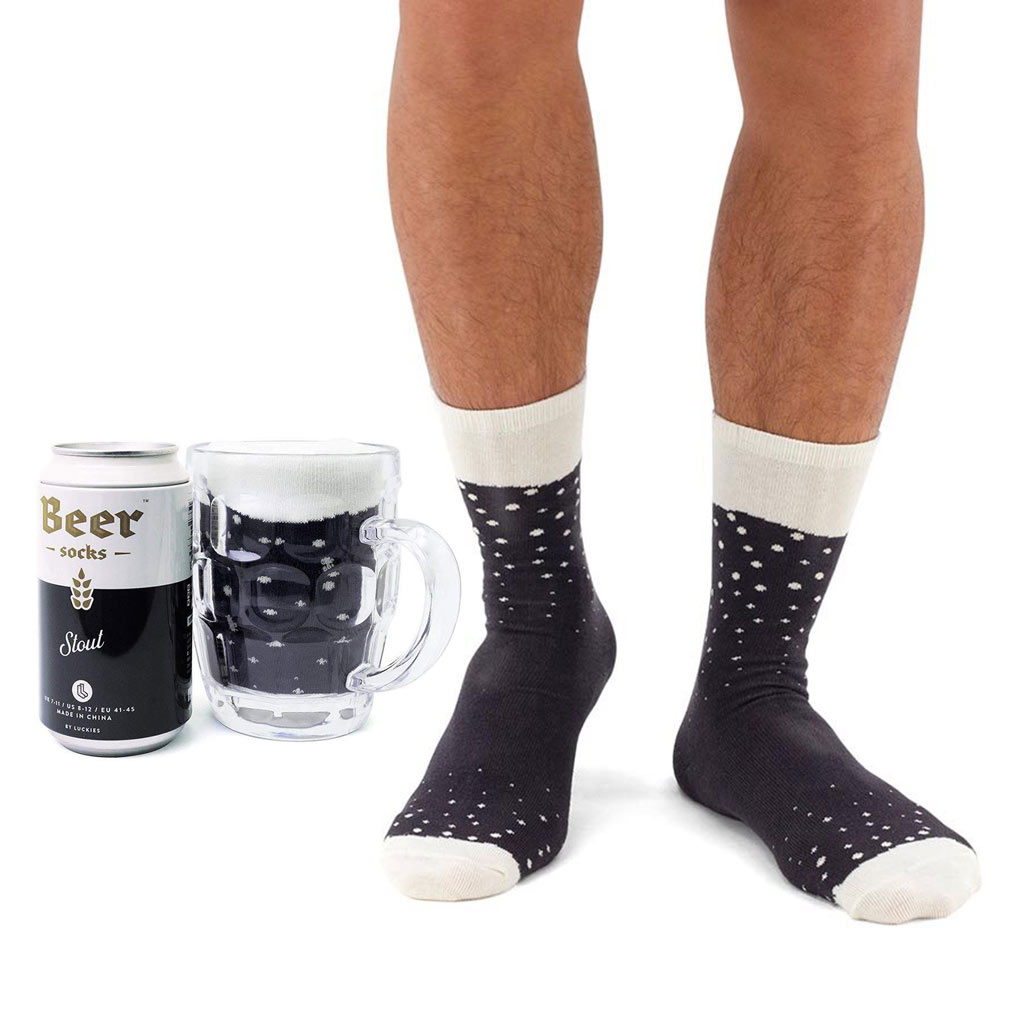 Luckies Men's Beer Socks 'Stout' | The Design Gift Shop