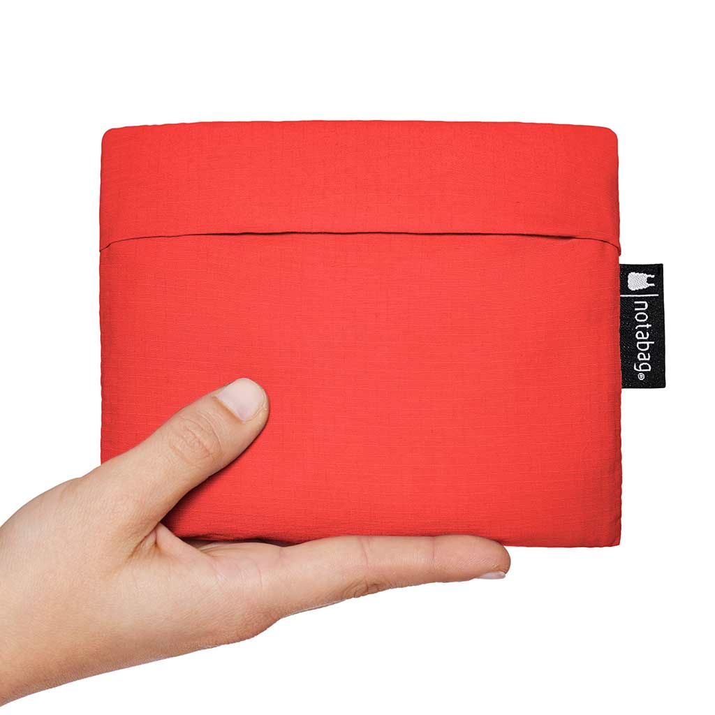 Notabag Pouch for Shopping Bag & Backpack in Red | The Design Gift Shop