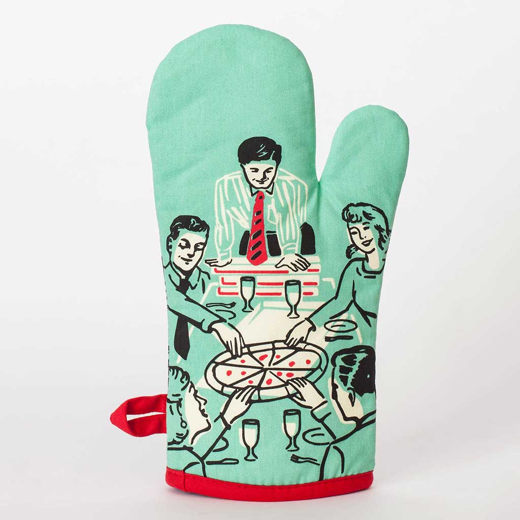 Pizza's Here (Back) - One Oven Mitt by Blue Q | The Design Gift Shop