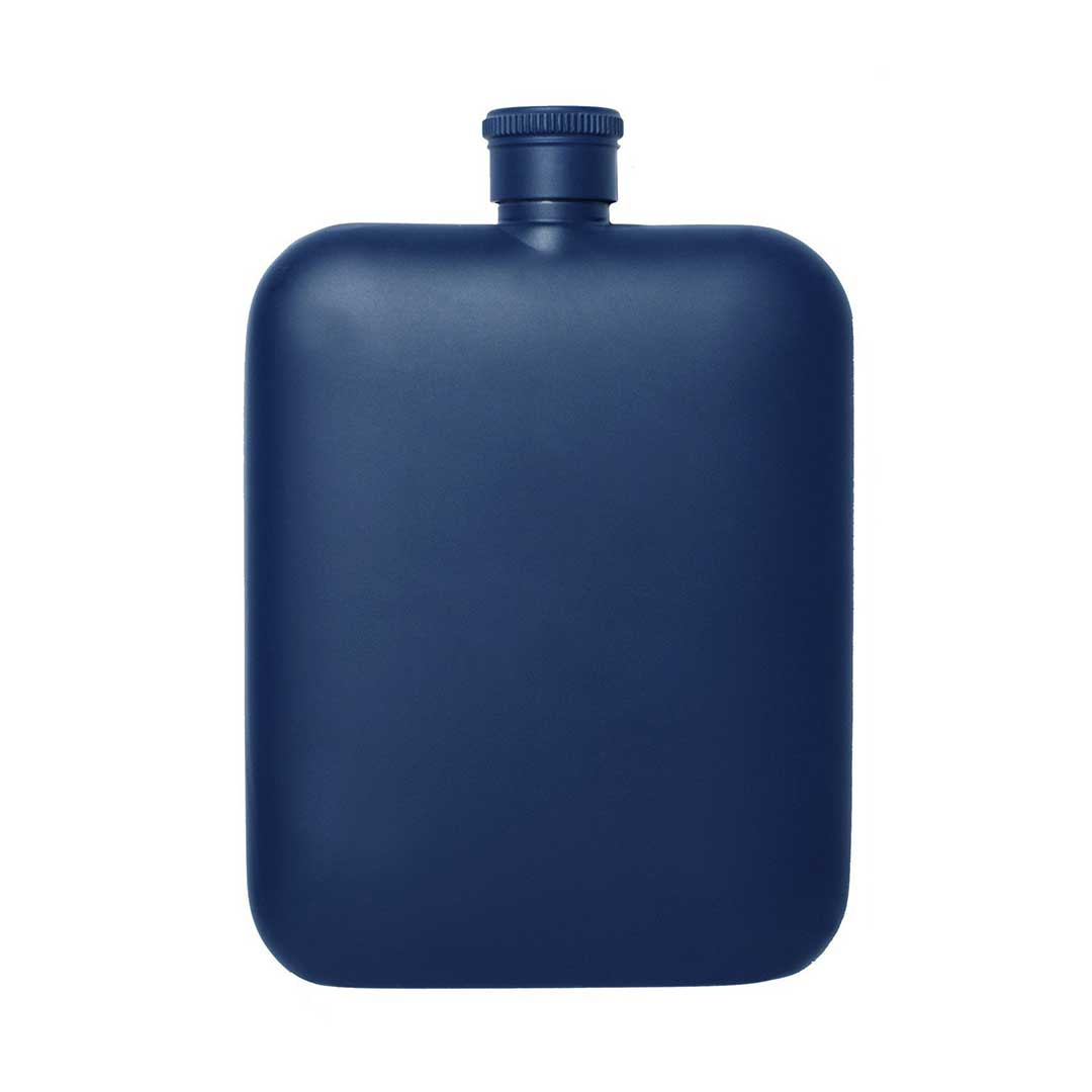 Izola 6oz blue stainless steel flask | The Design Gift Shop