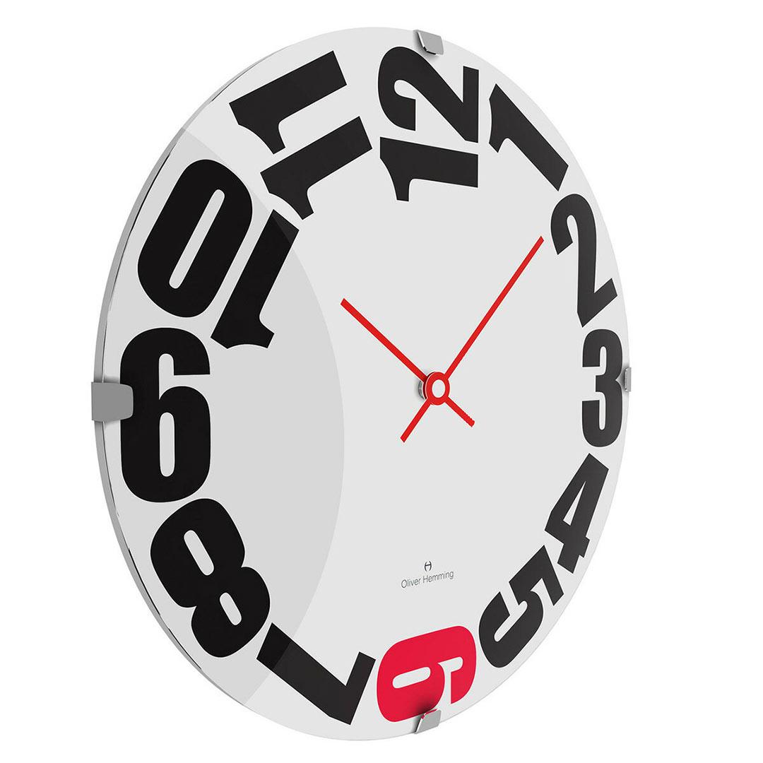 Oliver Hemming Vitri wall clock W300DG20WR   The Design Gift Shop