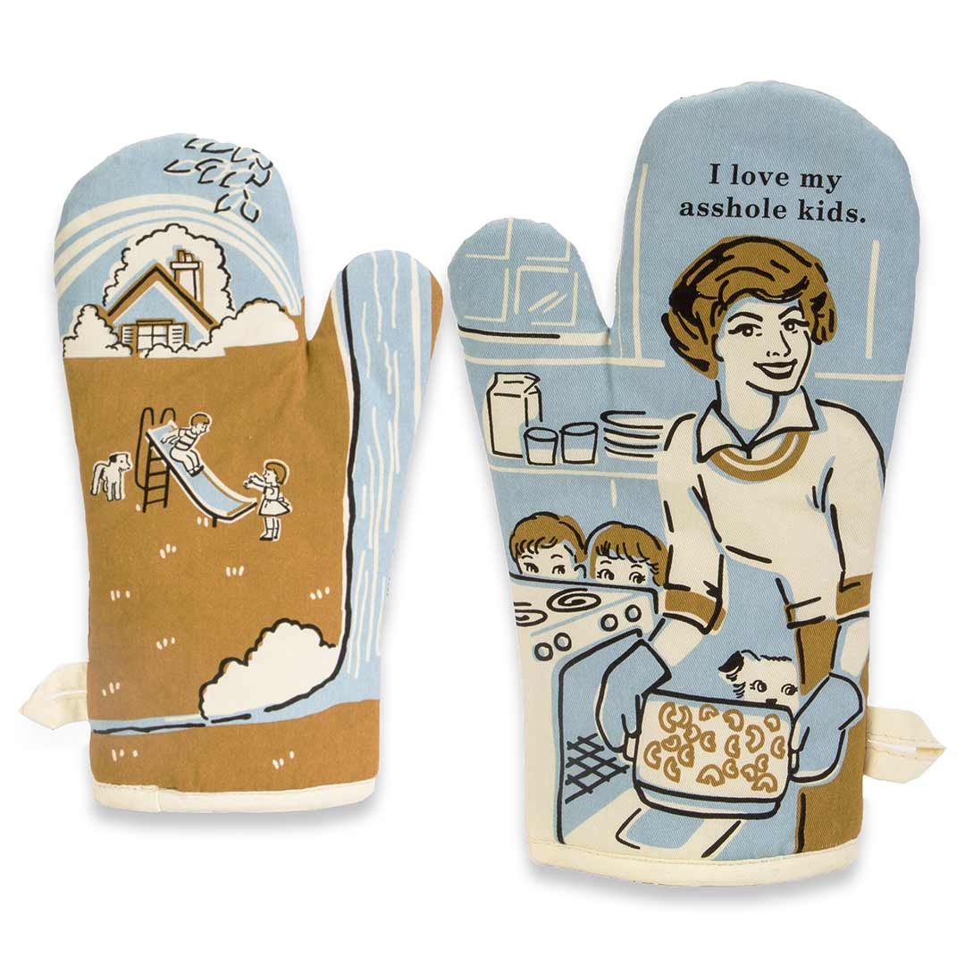 I Love My Asshole Kids - One Oven Mitt by Blue Q | The Design Gift Shop