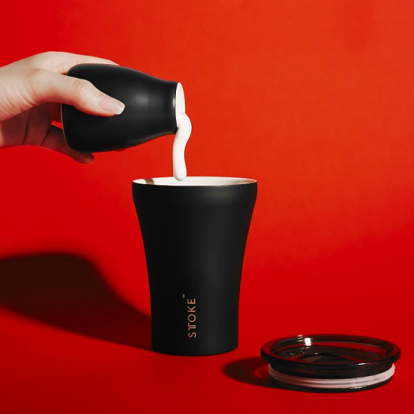 STTOKE Coffee Cup Black | the design gift shop