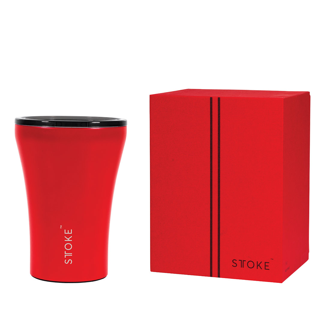 STTOKE Coffee Cup Crimson Red   the design gift shop