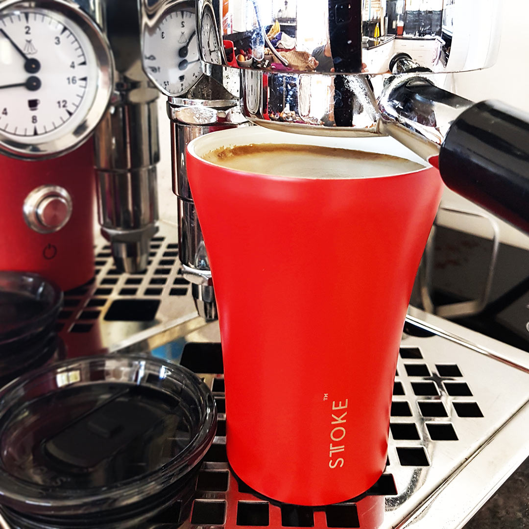 STTOKE Coffee Cup Crimson Red | the design gift shop
