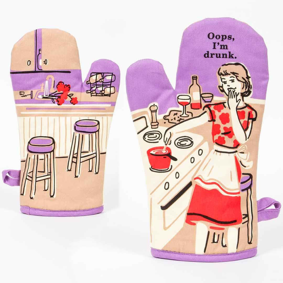 Oops, I'm Drunk - One Oven Mitt by Blue Q | the design gift shop