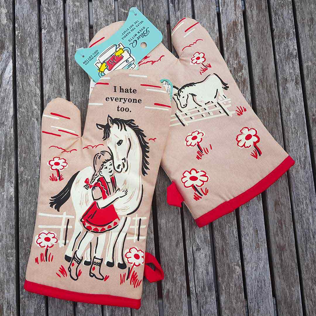 I Hate Everyone Too - One Oven Mitt by Blue Q | the design gift shop