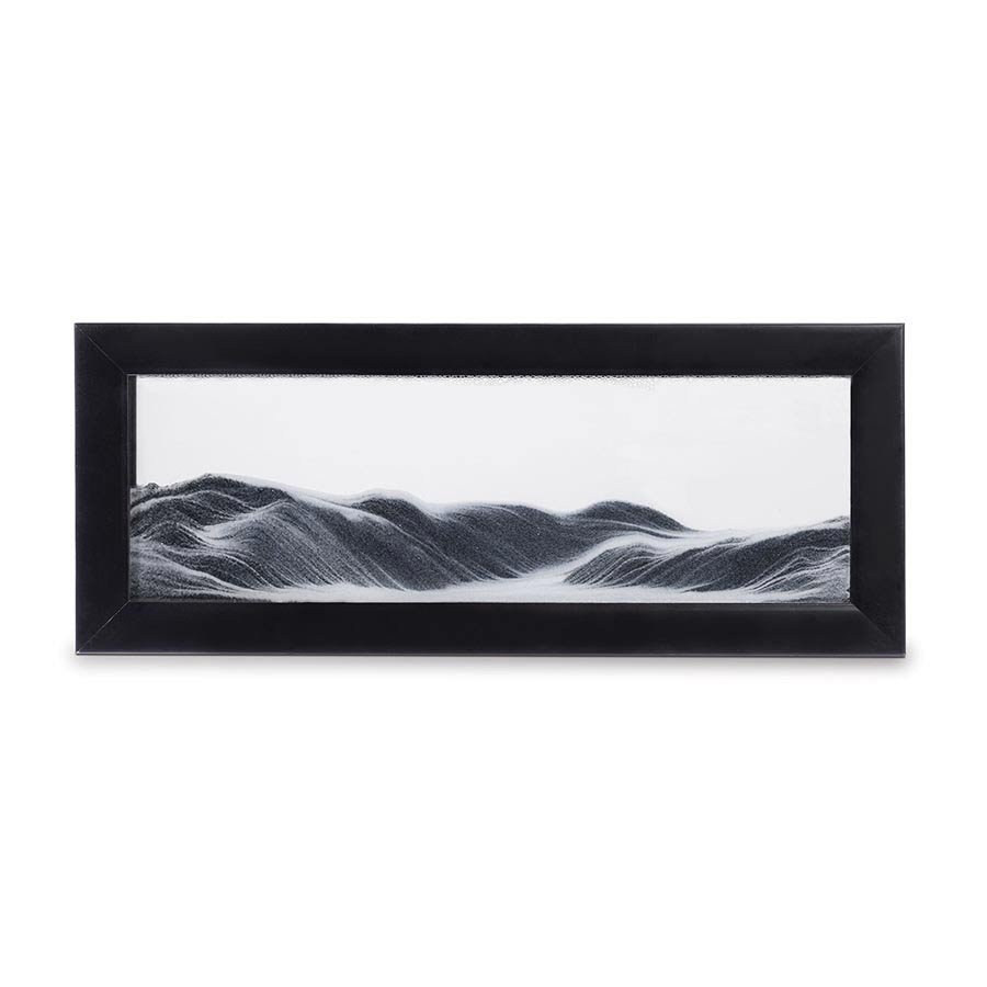 Moving Sand Art in Black Frame by ISgift | The Design Gift Shop