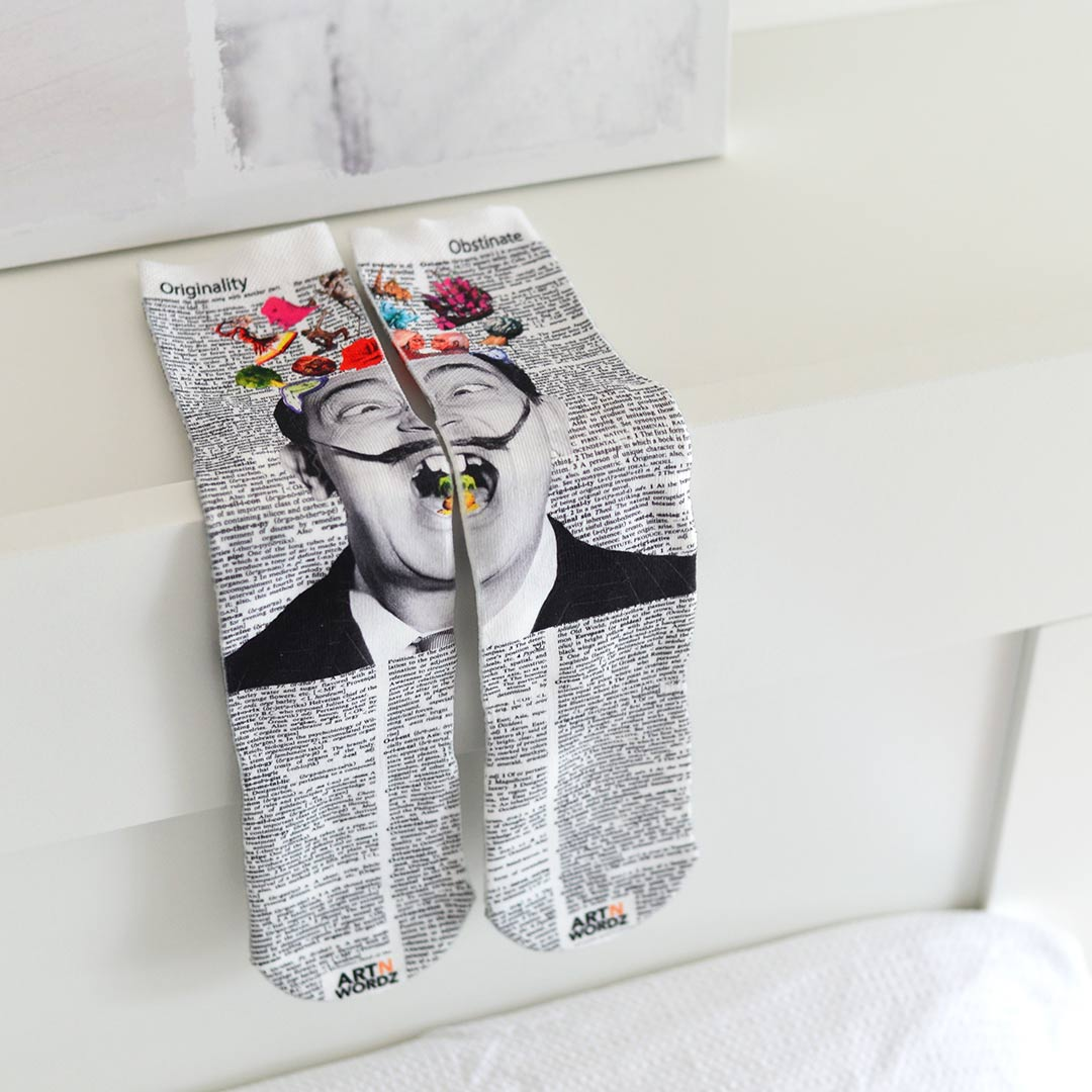 HELLO SALVADOR DALI socks by Art N Wordz | the design gift shop