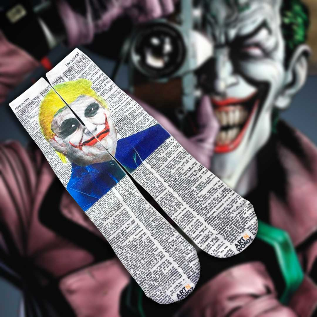 DONALD JOKER TRUMP socks by Art N Wordz | the design gift shop