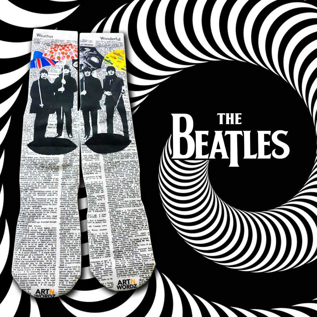 UMBEATLES socks by Art N Wordz (Back) | The Design Gift Shop