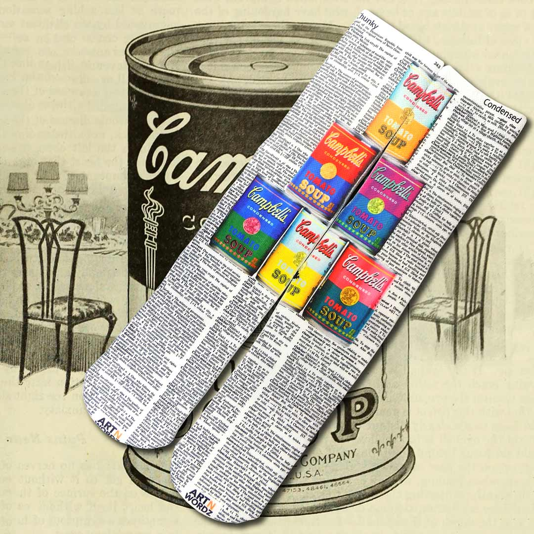 CAMPBELL'S SOUP CANS socks by Art N Wordz (Front) | the design gift shop