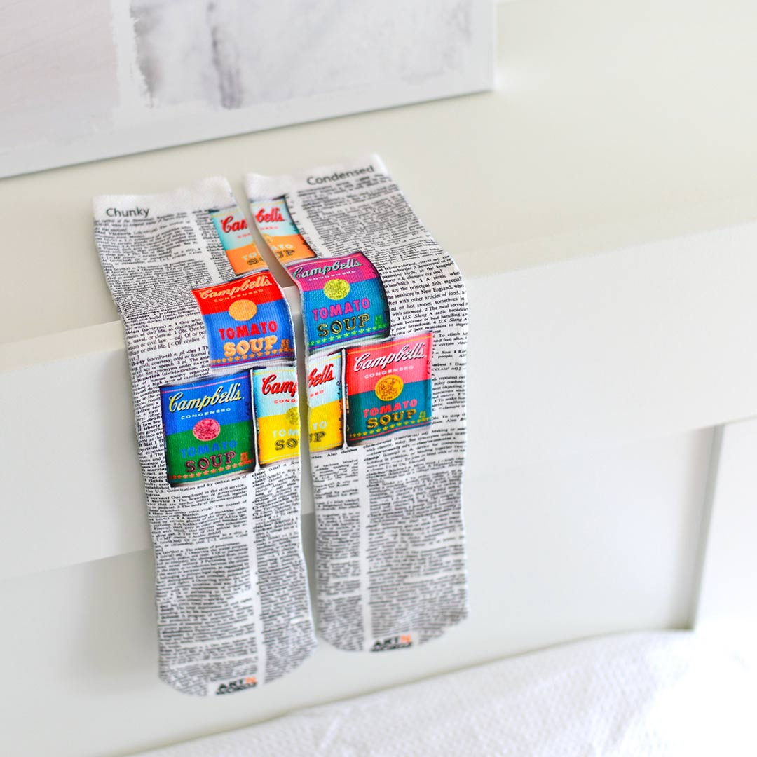 CAMPBELL'S SOUP CANS socks by Art N Wordz | the design gift shop