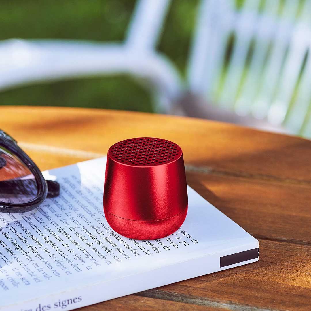 LEXON Mino Speaker LA113TR Red | The Design Gift Shop
