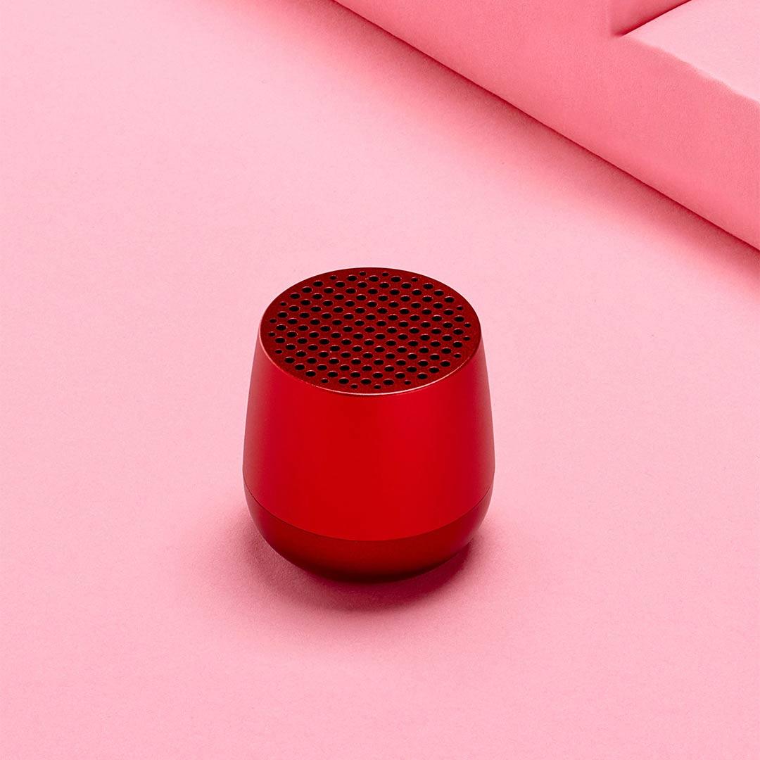 LEXON Mino Speaker LA113TR Red | The Design Gift Shop