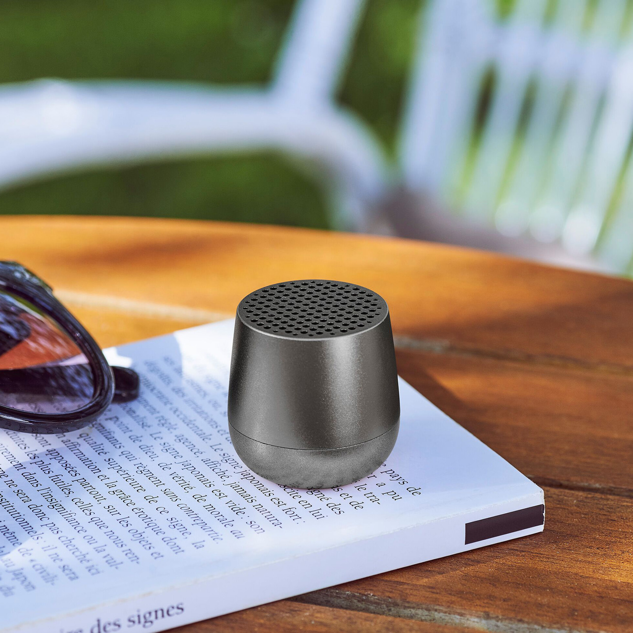 LEXON Mino Speaker LA113MX Gunmetal | The Design Gift Shop