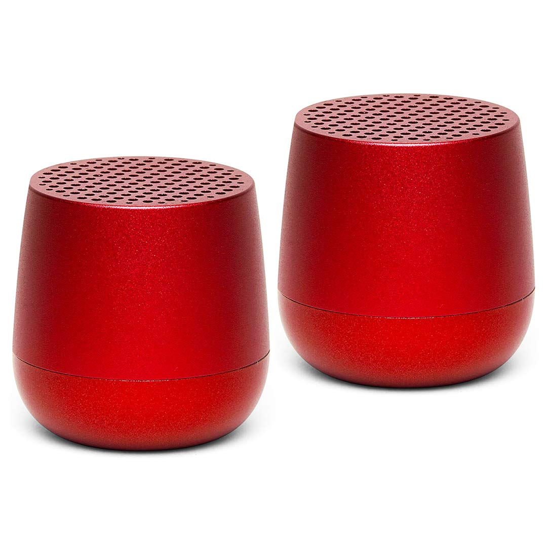 LEXON Mino Speaker Twin Set LA113MX Red | The Design Gift Shop