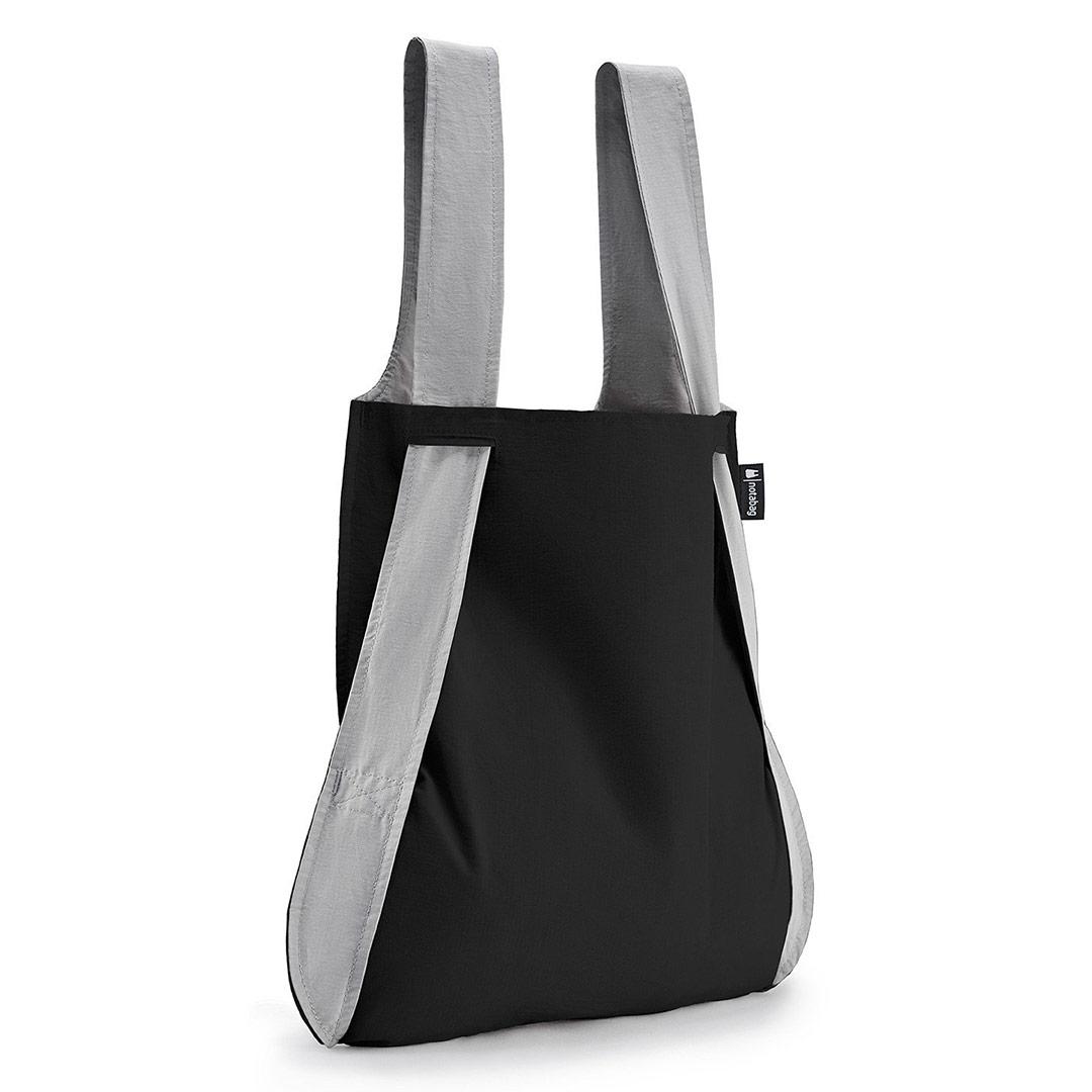 Notabag Shopping Bag & Backpack in Grey / Black | the design gift shop