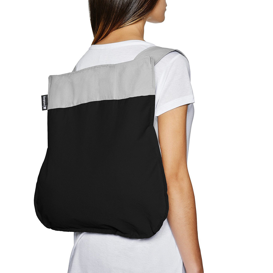 Notabag Shopping Bag & Backpack in Grey / Black | The Design Gift Shop