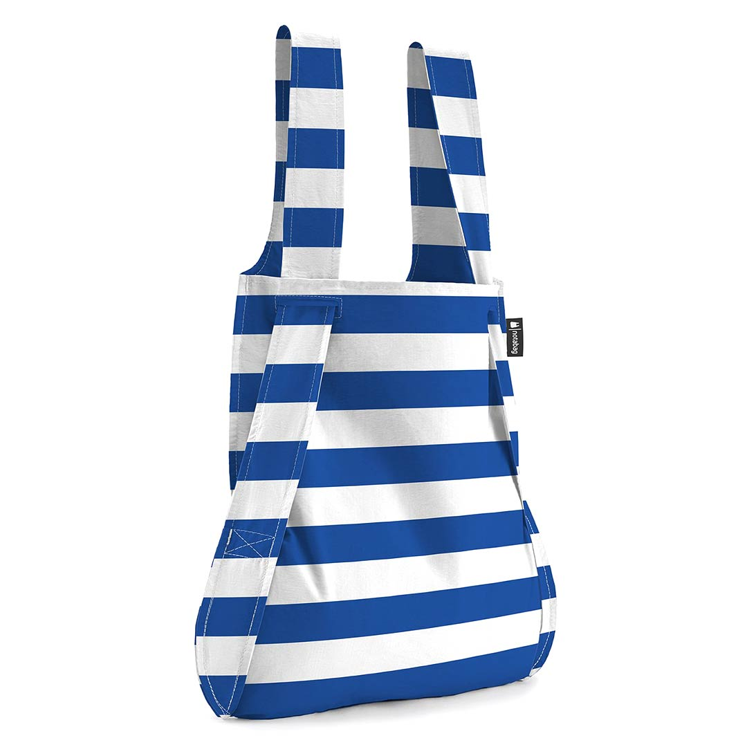 Notabag Shopping Bag & Backpack Marine Stripes | The Design Gift Shop