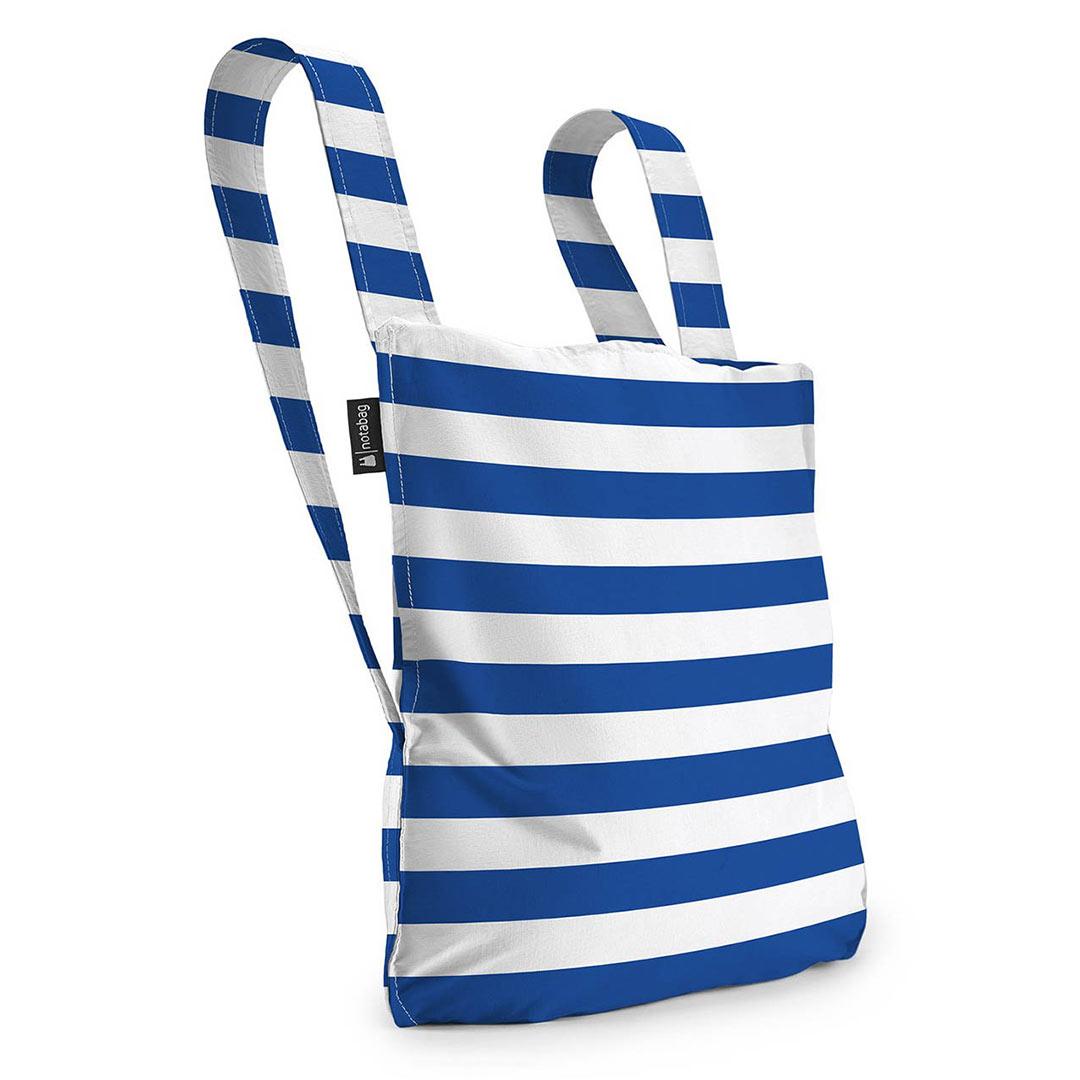 Notabag Shopping Bag & Backpack Marine Stripes | The Design Gift Shop