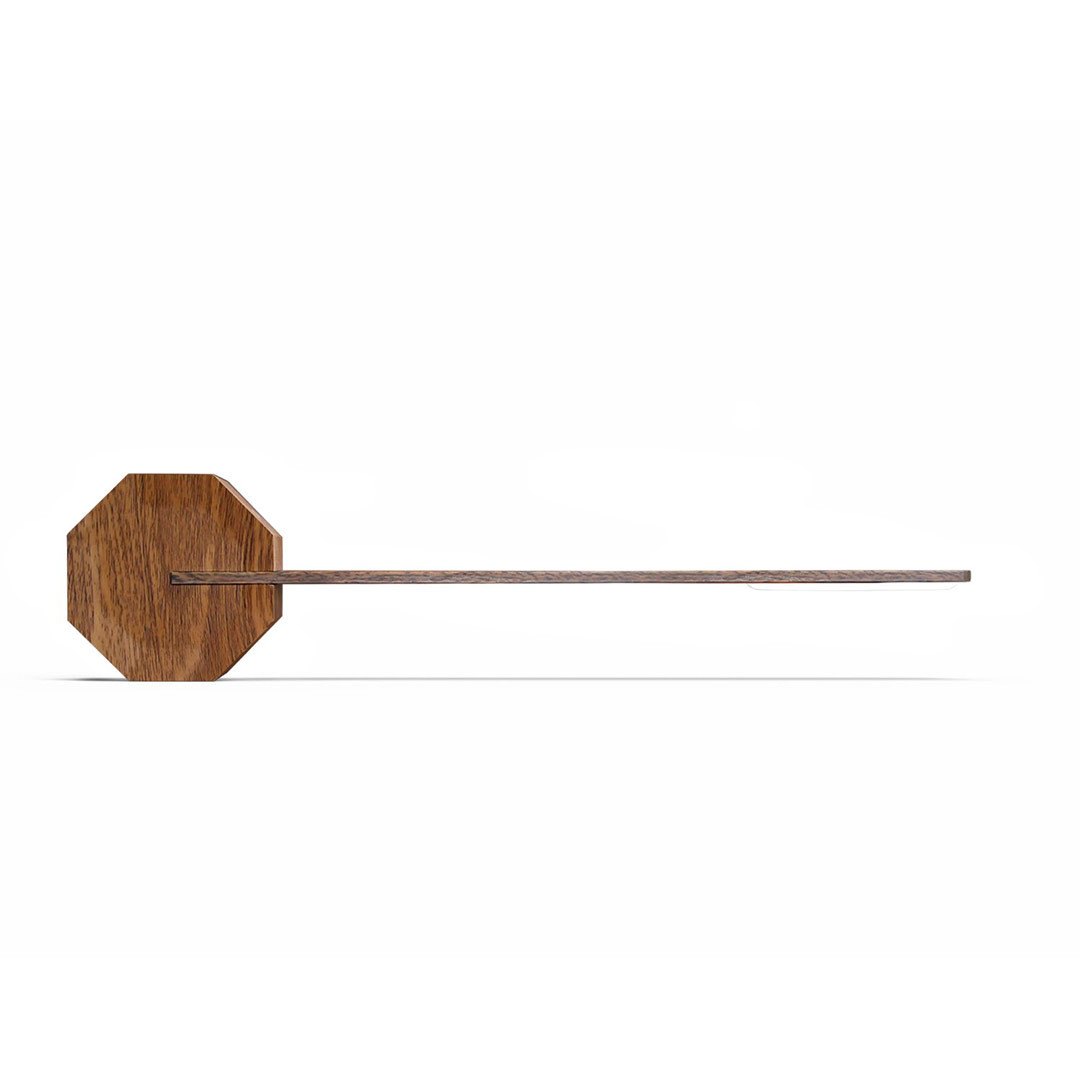 GINKGO Octagon One desk light Walnut | The Design Gift Shop