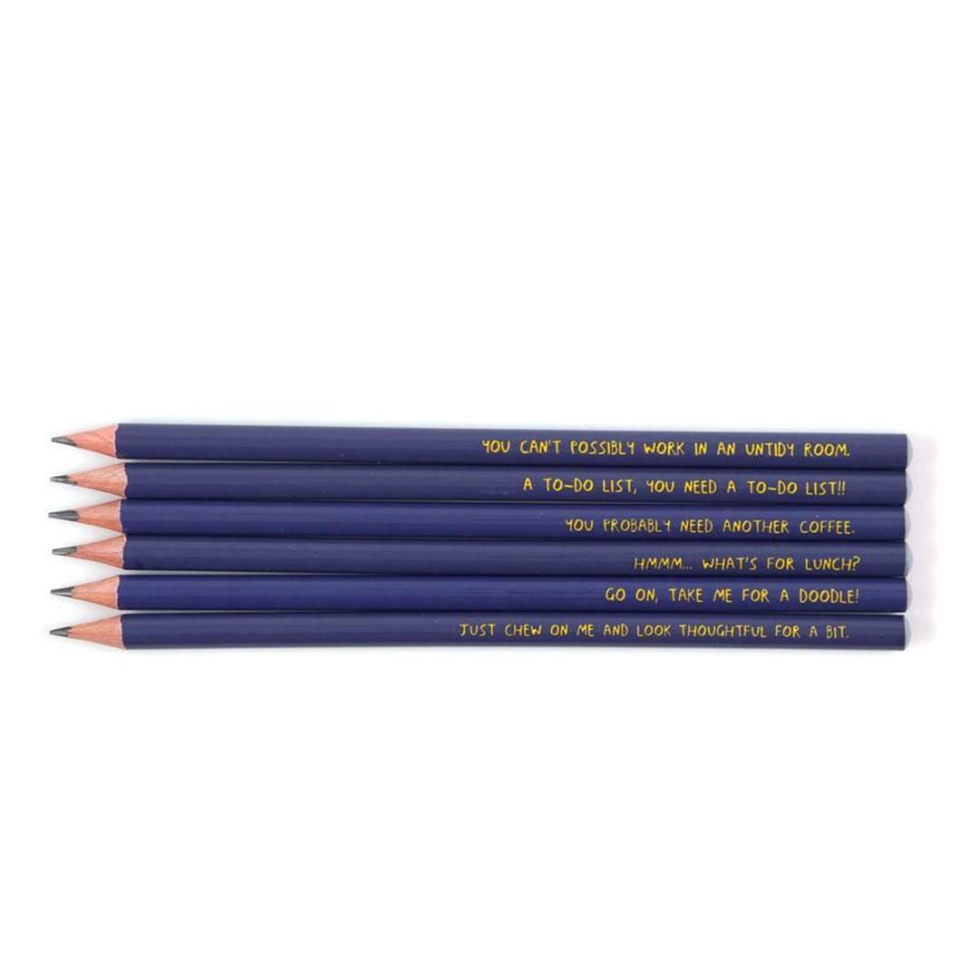 Procrastination Pencils from the Sharp & Blunt range by USTUDIO | The Design Gift Shop