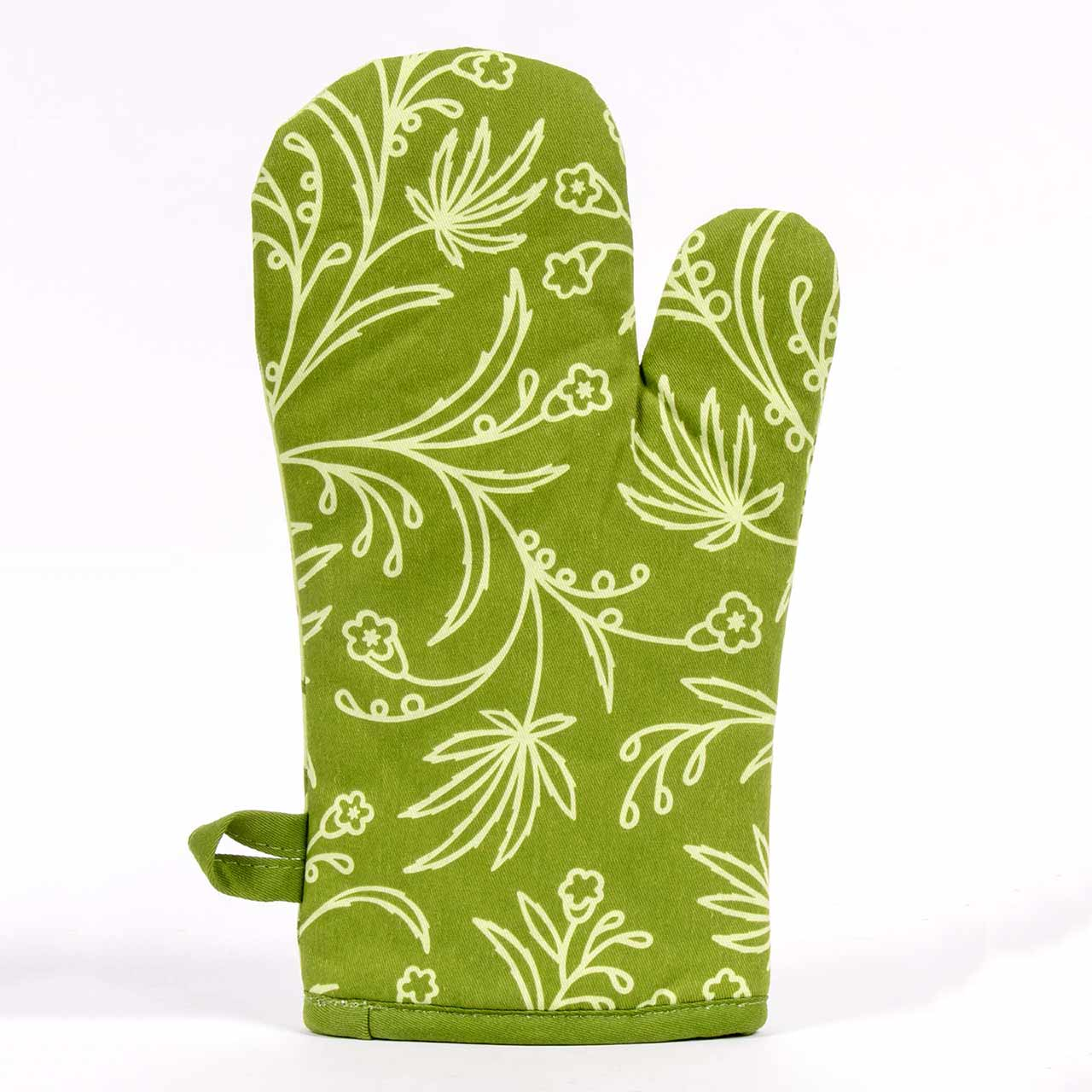 The Food Has Weed In It (Back) - One Oven Mitt by Blue Q | The Design Gift Shop