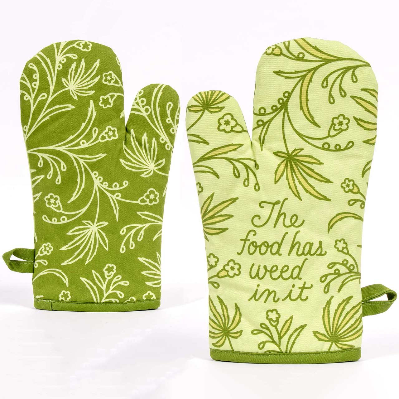 The Food Has Weed In It - One Oven Mitt by Blue Q | The Design Gift Shop