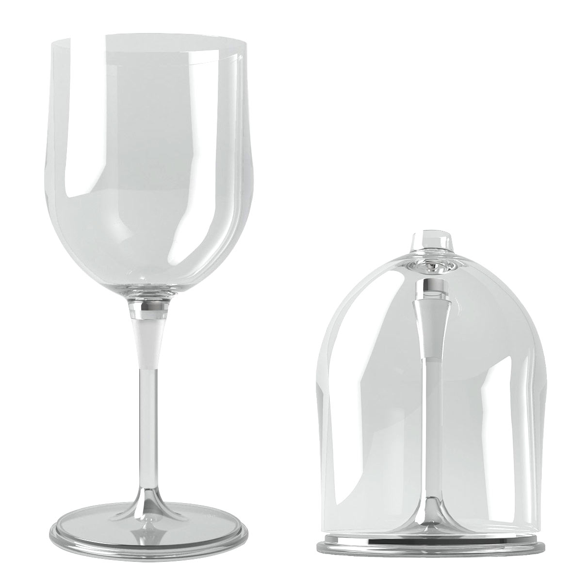 Collapsible Outdoor Wine Glass Al Fresco | The Design Gift Shop